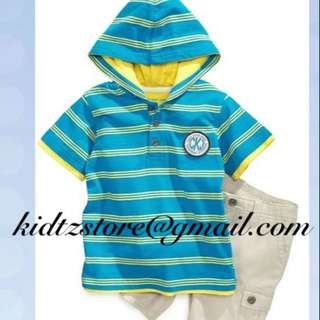 CK Hooded Tee & Shorts