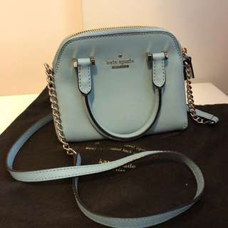 Kate Spade Cedar Street Maise Saffiano Leather Bag (Celeste Blue)
