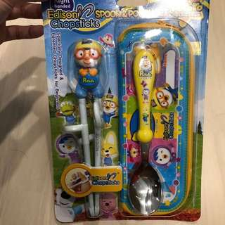 Pororo chopstick &a spoon set