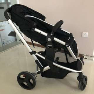 Mother care reversible stroller bassinet and infant car seat