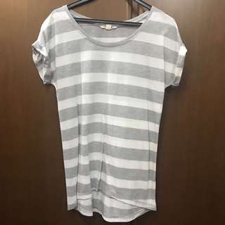 JayJays Striped Cuffed Sleeve Tee INSTOCK