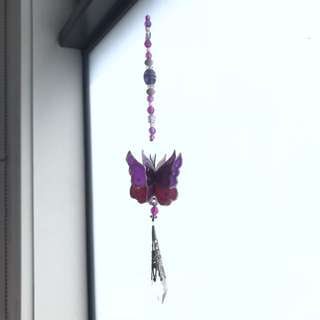 Butterfly crystal suncatcher