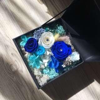 Blue angel preserve flower