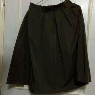 深綠色橡筋挺身裙