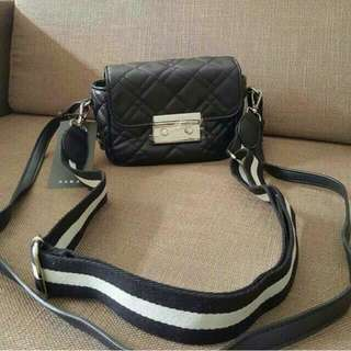 Zara Original Double Leather Slingbag / Bag / Tas