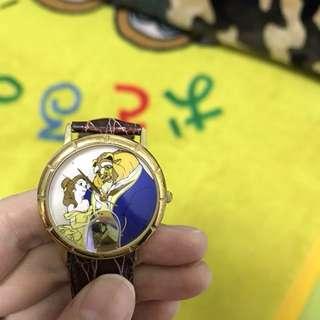 美女與野獸 手錶 迪士尼聯名fossil 限量 17,500
