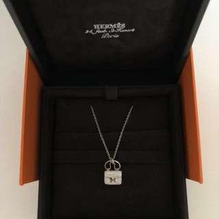 Hermes Constance white diamonds necklace
