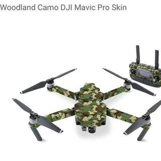 Woodland Camo DJI Mavic Pro Skin