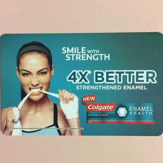Limited Edition brand new New Colgate Smile With Strength Design ezlink Card For $30.
