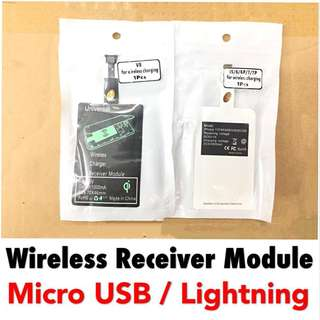 Wireless Charging Receiver Module (Micro USB & Lightning)