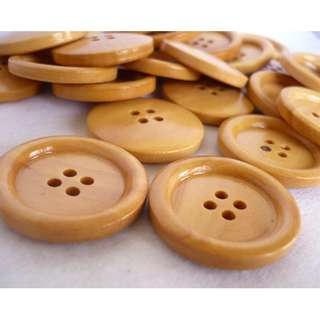 WB10100 - 30mm wood buttons, wooden buttons (10 pieces)  #craft