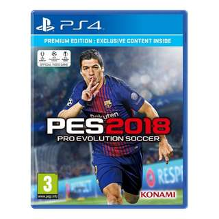 PS4 Pro Evolution Soccer 2018 (P4) (R2) Standard Edition