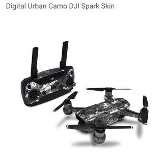 Digital Urban Camo DJI Spark Skin