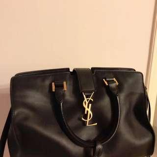 Saint Laurent YSL black Leather Handbag 黑色真皮手袋