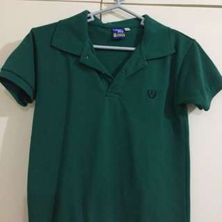 Level One Dark Green Polo Shirt - size 8