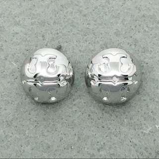 Tory Burch Sample Earrings 銀色圓形耳環 沒有耳環托