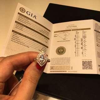 鑽石戒指0.62卡,E colour vvs1, 64 粒0.41 卡鑽石圍邊