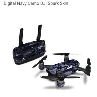 Digital Navy Camo DJI Spark Skin