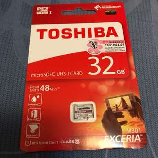 Toshiba microSDHC UHS-I card 32gb