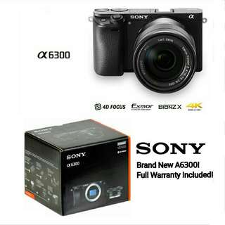 Free Delivery! Brand New! Sony A6300 Camera And Kit Lens
