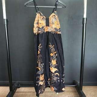 Batik tank top dress