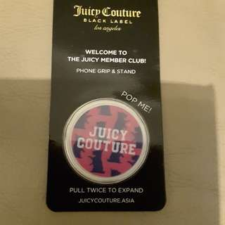 Juicy Couture phone grip and stand