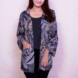 -FLORAL OUTER-  Bahan : cotton rayon