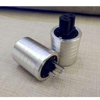 美式電源插頭鋁合金外殼、IEC頭尾插屏蔽殼