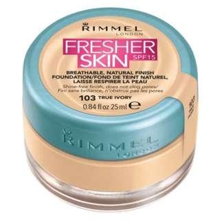 Rimmel Fresher Skin Spf15 Foundation