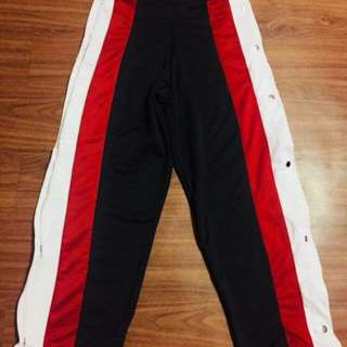 Button down track pants