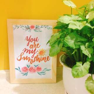 Custom Quote with Loose Florals (Frame Included)