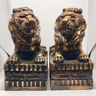 The Hongkong & Shanghai Corporation Lion Coin Banks (sharing)