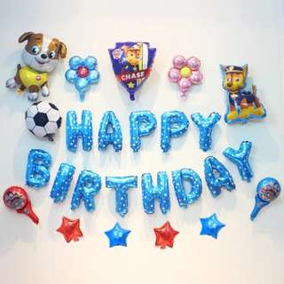🦄 [Instock] BN Happy Birthday Party Decor Balloon Sets - Paw Patrol