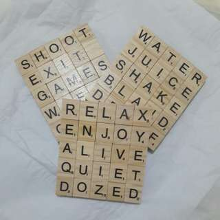 Scrabble Coasters (3 for 400)