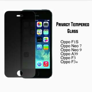 Privacy tempered glass (Oppo)