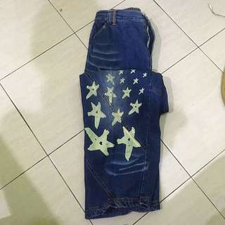 Denim jeans with Star imprints