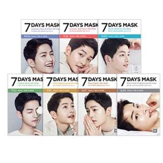 🆕 Forencos 7days Song Joong Ki Face Mask