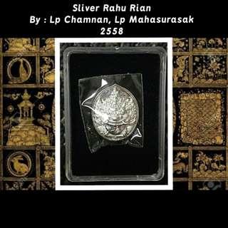Lp Chamnan, Lp Maha Suraksak Sliver plated  Rahu rian