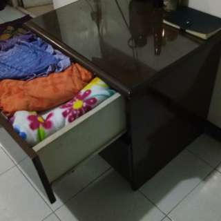 Dresser high end wood glass