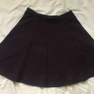 [Uniqlo] Black A-Line circle skater skirt
