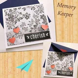 Handmade Card 💝 - Cherish