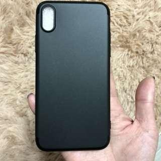iPhone X soft plastic case (black)