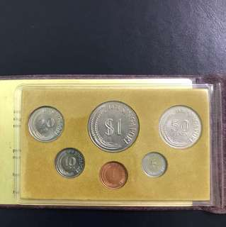 Singapore 1978 1 Cent To $1 Uncirculated Coin Set