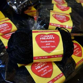 Red Heart Black Yarn
