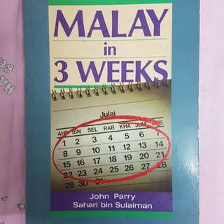 Malay in 3 weeks