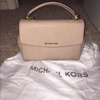 Michael Kors Ava Small Leather Satchel