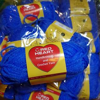 Red Heart Blue Yarn