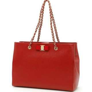*ATTRACTIVE PRICE* Salvatore Ferragamo MeLike Rosso Red Classic Handbag