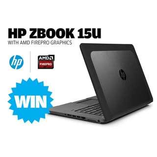 HP Zbook 15U G2、i7-5500、1GB繪圖卡、4G、500G、視訊、指紋ATM、背光鍵、LTE、雙系統