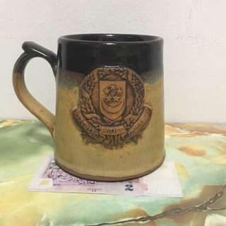Republic Singapore Police Pottery Mug With English Wordings